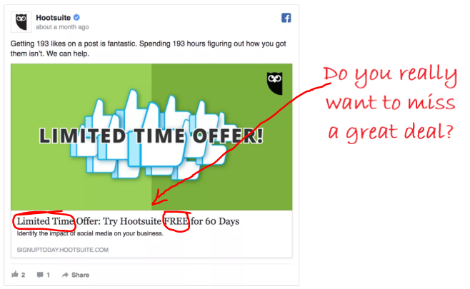 Hootsuite ad example
